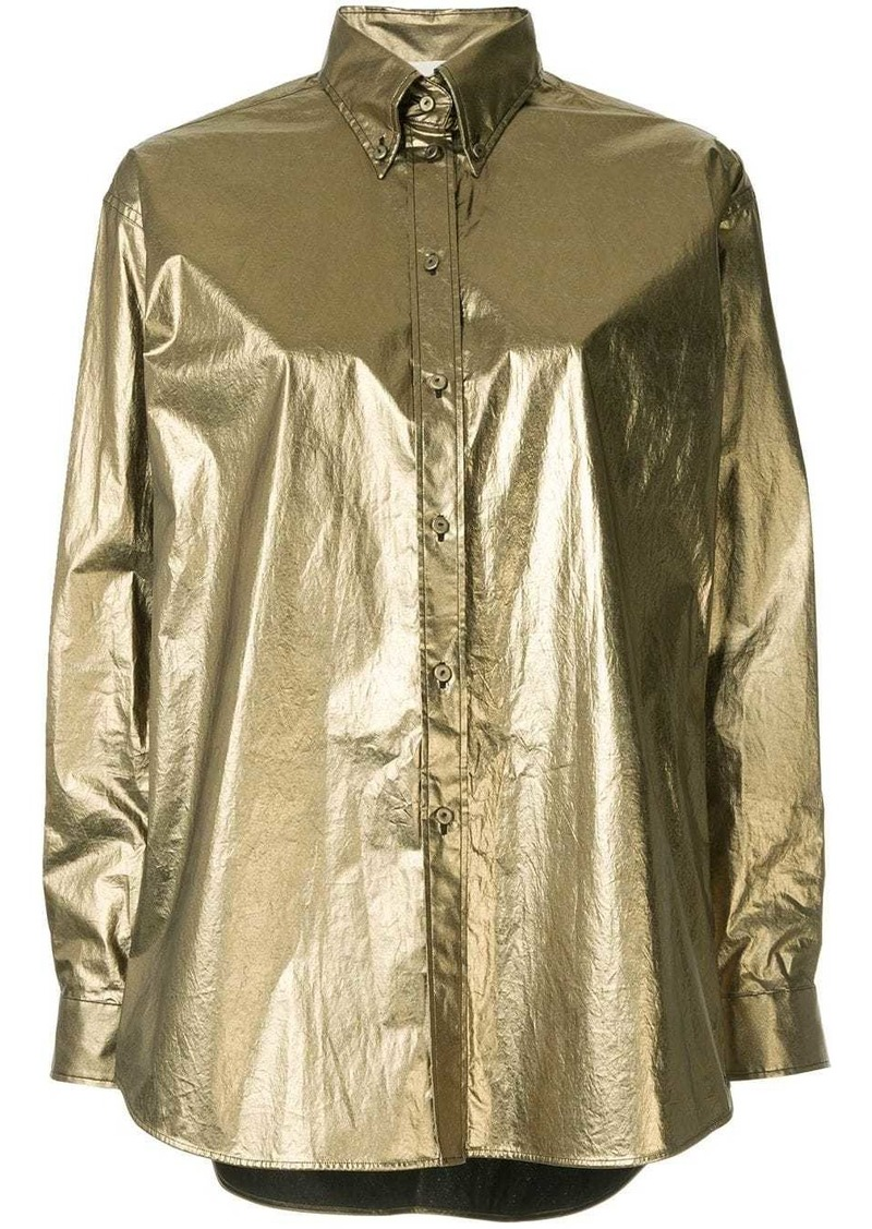 Ports 1961 metallic button-down shirt