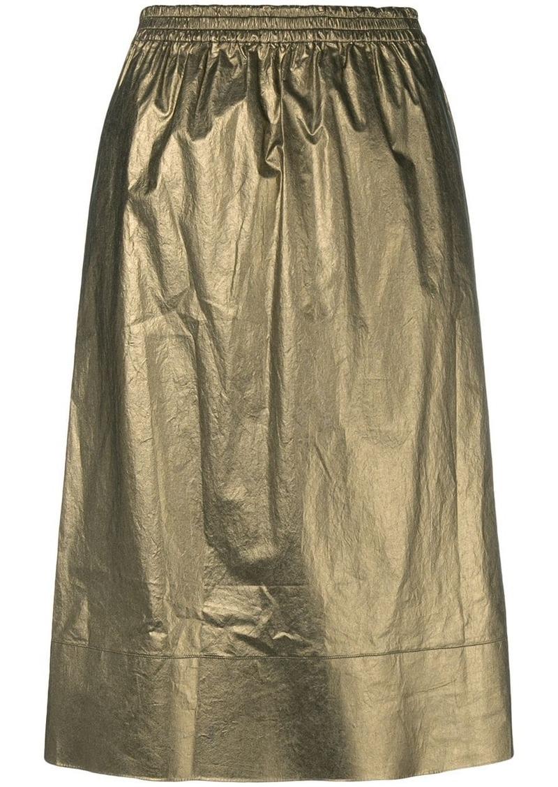Ports 1961 metallic flared skirt