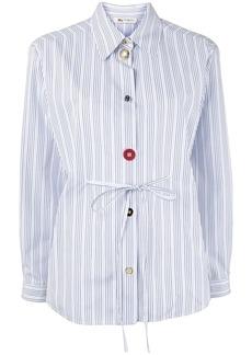 Ports 1961 multi-button pinstriped shirt