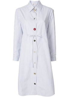 Ports 1961 multi-button pinstriped shirt dress