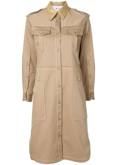 Ports 1961 multi-pocket military shirt dress