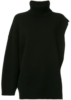 Ports 1961 one sleeve knitted poncho