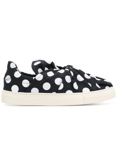 Ports 1961 polka dot knot front slip-on sneakers