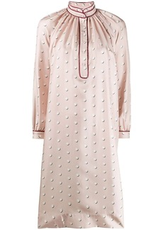 Ports 1961 polka dot silk shirt dress