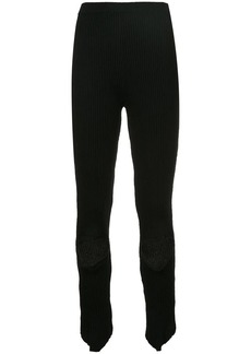 Ports 1961 ribbed holey knee leggings
