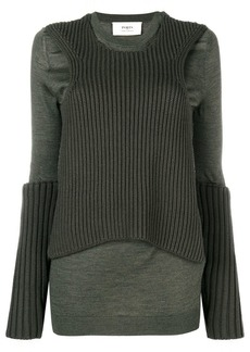Ports 1961 ribbed knit detail jumper
