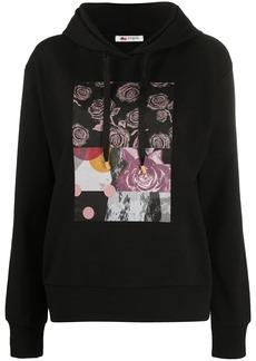 Ports 1961 roses-print hooded sweatshirt