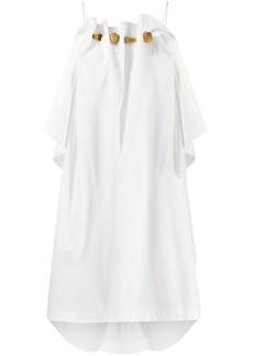 Ports 1961 ruffled sleeveless dress