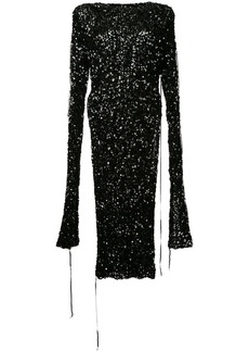 Ports 1961 sequinned slit sleeve dress