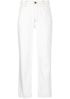 Ports 1961 straight leg white jeans