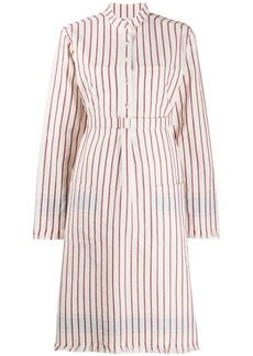 Ports 1961 stripe-print belted shirt dress