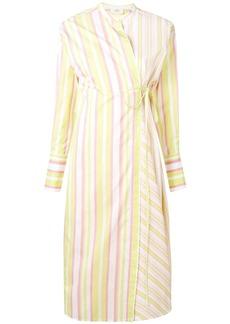 Ports 1961 striped wrap-front dress