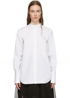Ports 1961 White Poplin Twisted Shirt