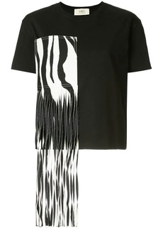Ports 1961 zebra fringed patch T-shirt