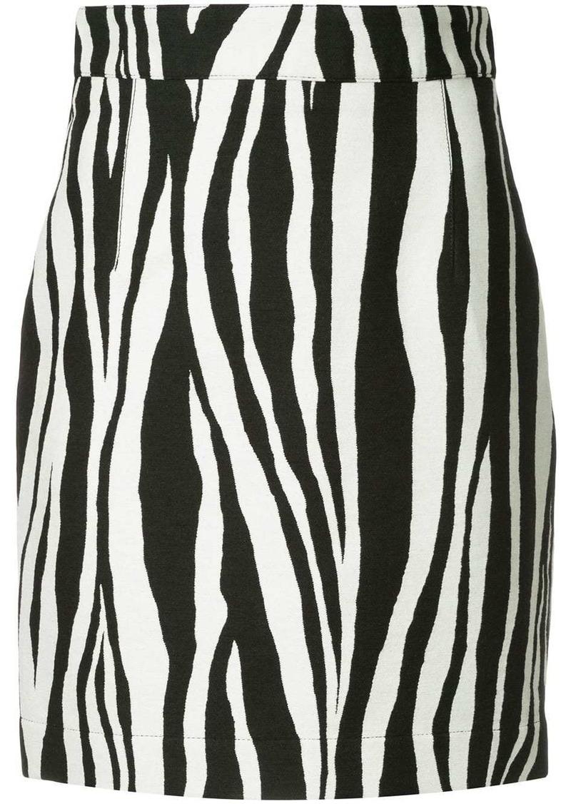 Ports 1961 zebra print mini skirt