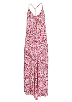 Poupette St Barth Felicia Sleeveless Floral Maxi Dress