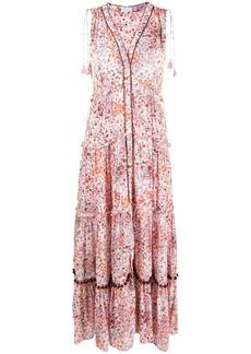 Poupette St Barth flared sleeveless maxi dress