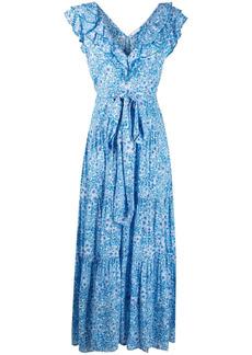 Poupette St Barth floral shift maxi dress