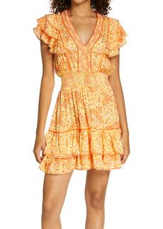 Poupette St Barth Camila Ruffle Cover-Up Dress
