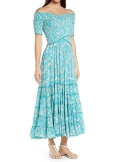 Poupette St Barth Poupette St. Barth Soledad Floral Off The Shoulder Cover-Up Dress