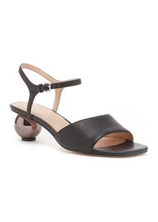 Pour La Victoire Dora Leather Sphere Heel Sandal