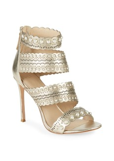 Pour La Victoire Ellura Leather Stiletto Sandals