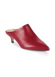 Pour La Victoire Korrine Leather Kitten Heel Mules