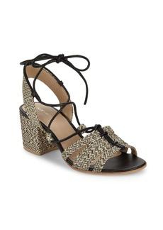 Pour La Victoire Amada Raffia Ankle Strap Sandals