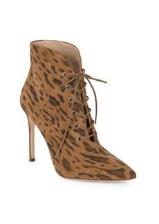 Pour La Victoire Cari Kid Suede Leopard Boots