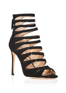 Pour La Victoire Elaine Suede Caged High Heel Sandals
