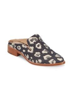 Pour La Victoire Febe Denim Leopard Mules