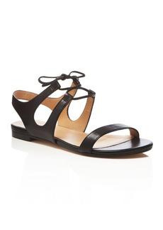 Pour La Victoire Lacey Lace Up Flat Sandals