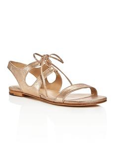 Pour La Victoire Lacey Metallic Lace Up Sandals