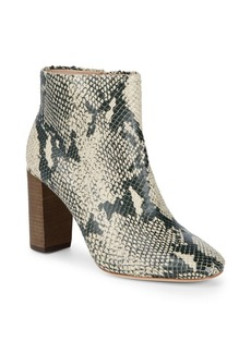 Pour La Victoire Rickie Cut Snake Embossed Zip-Up Booties