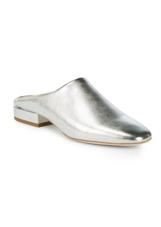 Pour La Victoire Sebina Metallic Leather Mules