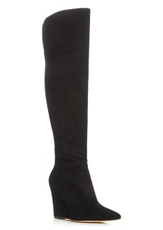 Pour La Victoire Serra Over The Knee Wedge Boots