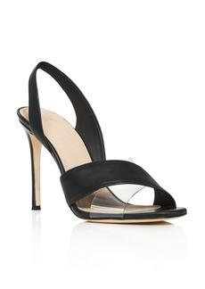 Pour La Victoire Women's Elly Metallic Leather Illusion High-Heel Slingback Sandals