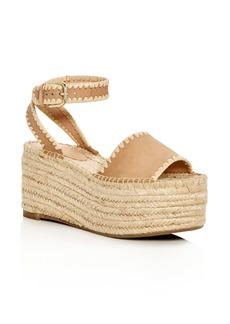 Pour La Victoire Women's Ria Suede & Raffia Espadrille Platform Wedge Sandals