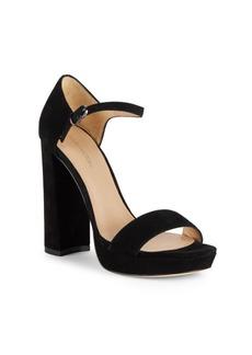 Pour La Victoire Yvette Block-Heel Leather Sandals