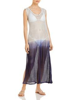 PQ Swim Alana Dip Dye Mesh Dress Swim Cover-Up