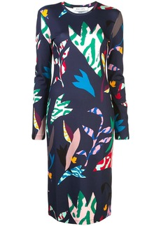 Prabal Gurung animal floral shift dress