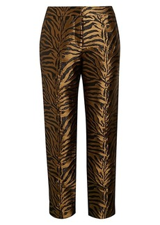 Prabal Gurung Animal Jacquard Silk Pants