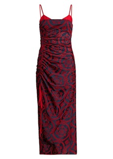 Prabal Gurung Bralette Top Gathered Slit Midi Dress