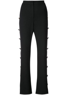 Prabal Gurung button embellished flared trousers