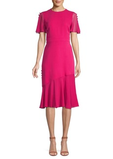 Prabal Gurung Button-Trimmed Silk Dress