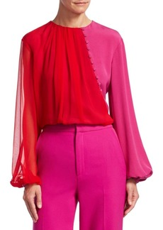 Prabal Gurung Colorblock Chiffon Blouse