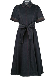 Prabal Gurung contrast-stitching denim shirt dress