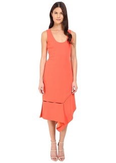 Prabal Gurung Crepe Asymmetrical Hem Dress