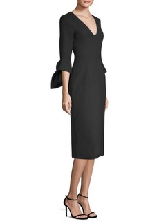 Prabal Gurung Crepe Bow-Sleeve Sheath Dress