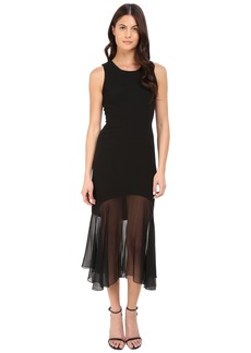 Prabal Gurung Crepe Illusion Sleeveless Dress